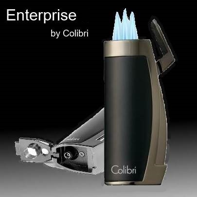 Colibri Enterprise Lighter with Built-in Cigar Punch
