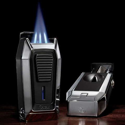 Colibri Quantum Lighter Triple-jet Flame with Built-in V-Cutter