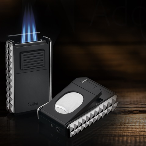 Colibri Quasar Astoria Lighter Triple-jet Flame w/ Guillotine Cutter